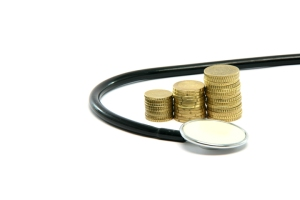 money and stethoscope